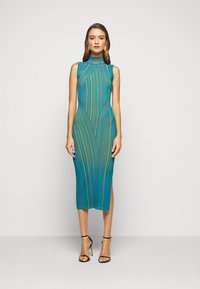 Hervé Léger - SLEEVELESS TURTLENECK DRESS - Vestito elegante - tidal wave - 1