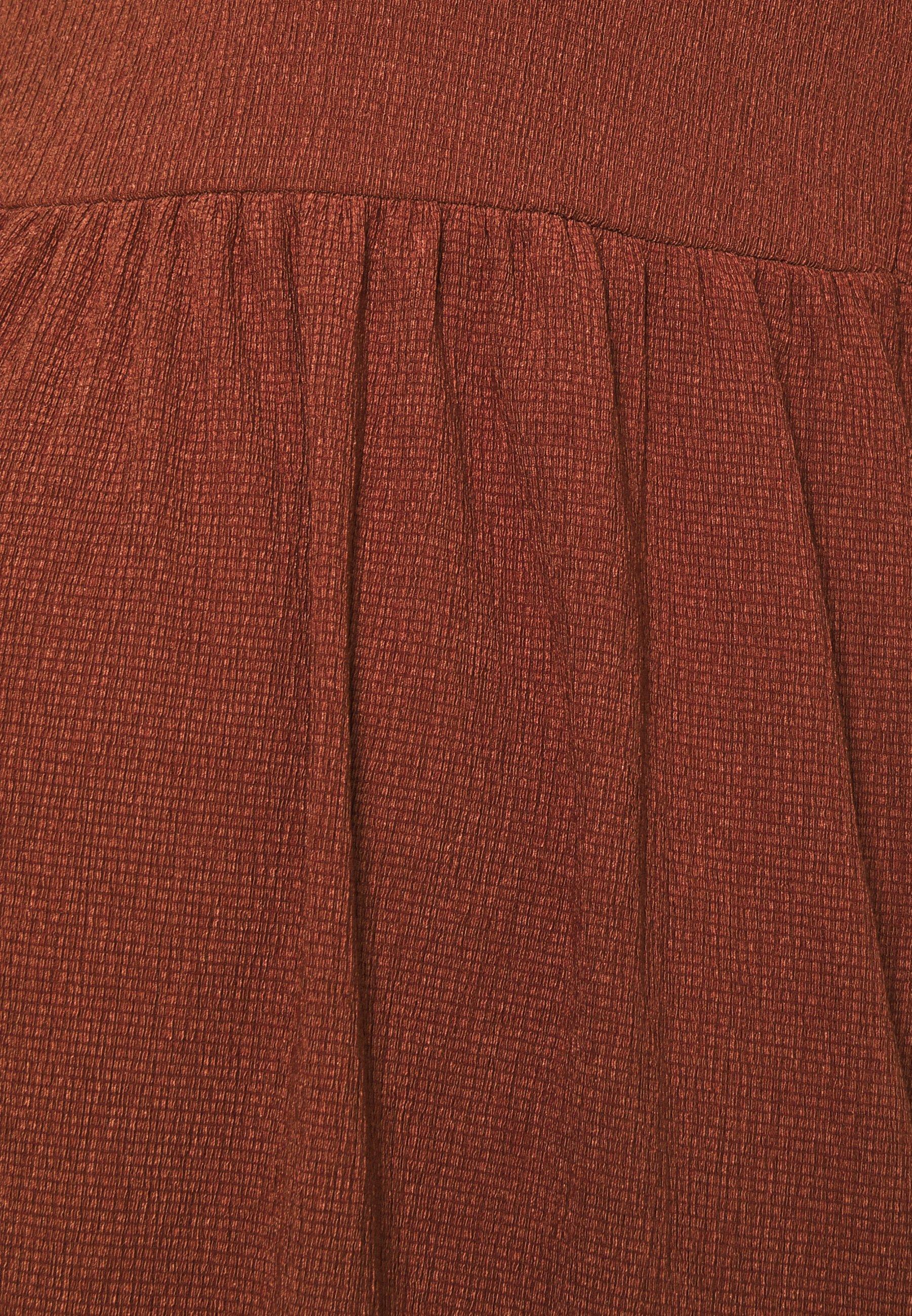 MAMALICIOUS MLPAULA SHORT DRESS Jerseykleid burnt russet/rot