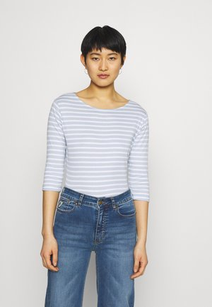Long sleeved top - light blue/white
