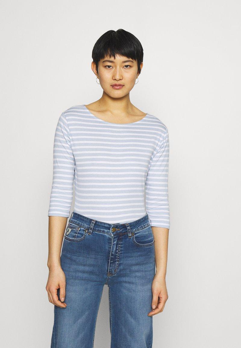 Anna Field - Long sleeved top - light blue/white