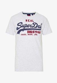 Superdry - PREMIUM GOODS HEAT SEALED TEE - Print T-shirt - ice marl - 3