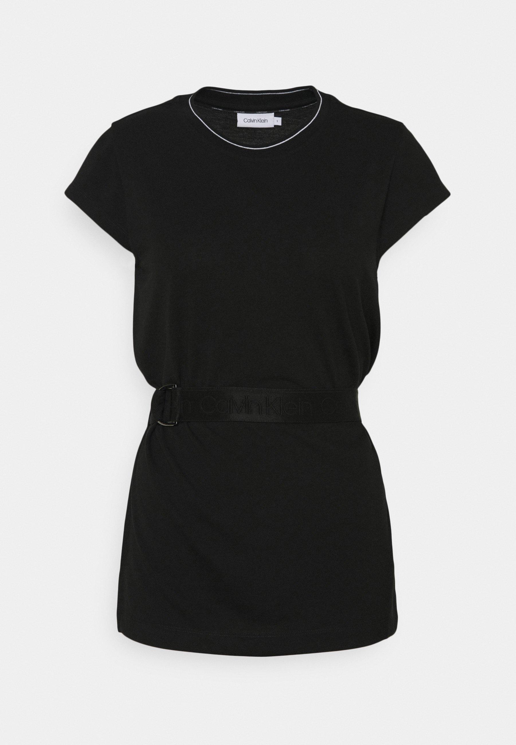 Women CAP SLEEVE BELTED - Basic T-shirt