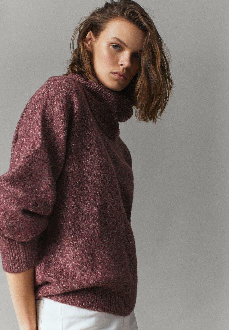 Massimo Dutti - PULLOVER MIT WEITEM AUSSCHNITT - Sweater - bordeaux