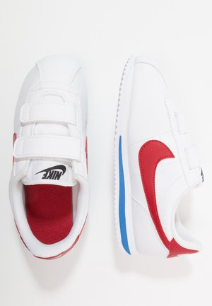CORTEZ BASIC - Sneakersy niskie - white/varsity royal/black/varsity red