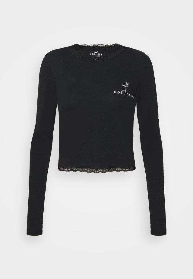 SLIM TREND - Bluzka z długim rękawem - black