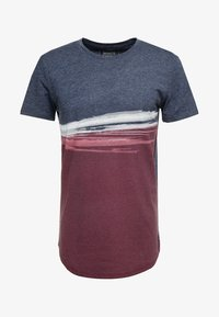 TOM TAILOR DENIM - Print T-shirt - deep burgundy red - 3