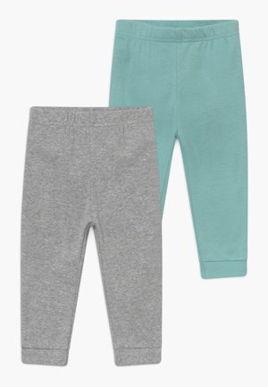 NEUTRAL BABY 2 PACK - Trousers - mottled grey/turquoise