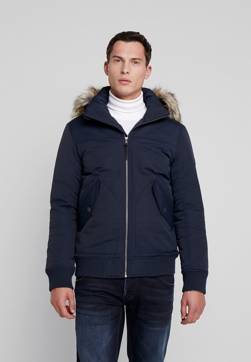 TOM TAILOR DENIM - TRIMMED BOMBER - Winter jacket - sky captain blue