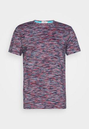 Print T-shirt - navy/neon space