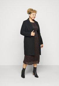 Evans - PRINTED HANKY HEM DRESS - Day dress - black - 1