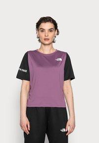 The North Face - Print T-shirt - pikes purple/black - 0