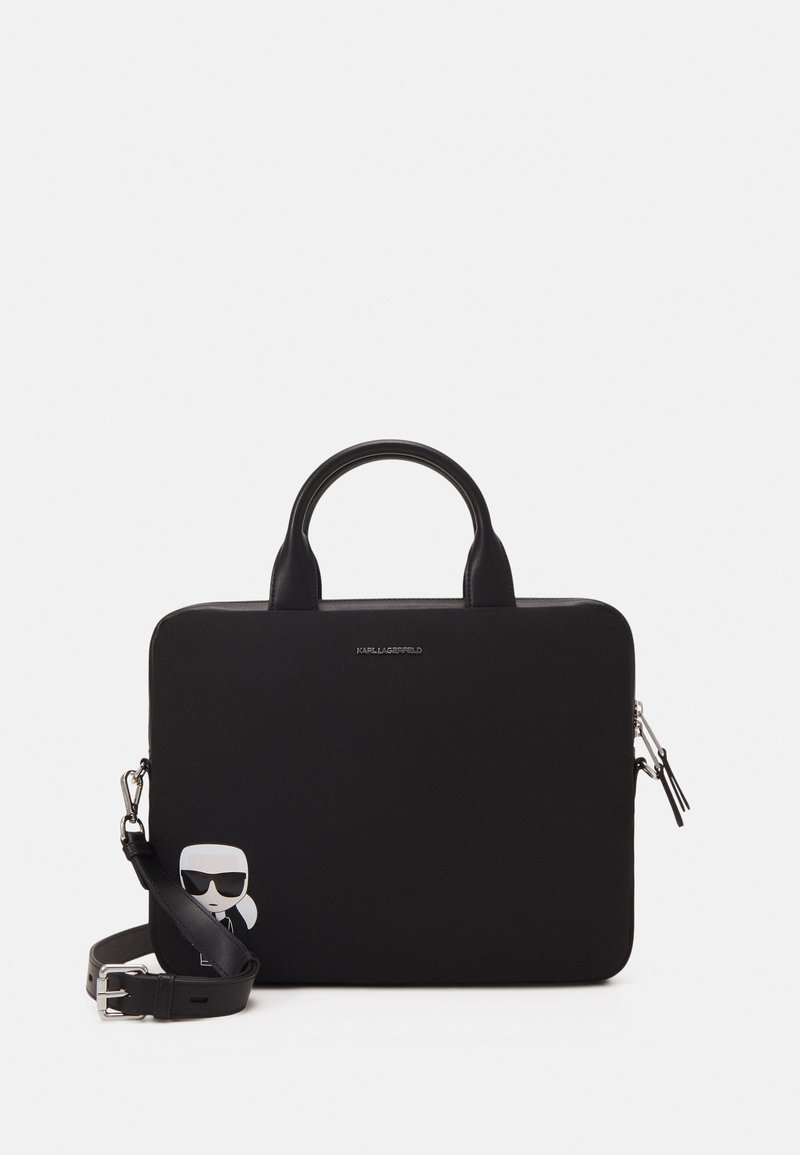 KARL LAGERFELD - IKONIK LAPTOP SLEEVE UNISEX - Notebooktasche - black