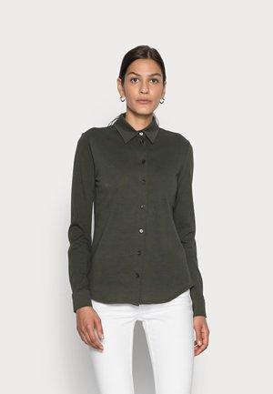 Button-down blouse - dunkelgrün