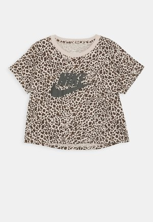 TEE CROP  - Camiseta estampada - fossil stone/black
