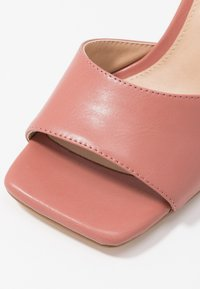 NA-KD - SQUARED TOE STILETTO MULES - Heeled mules - dusty pink - 2