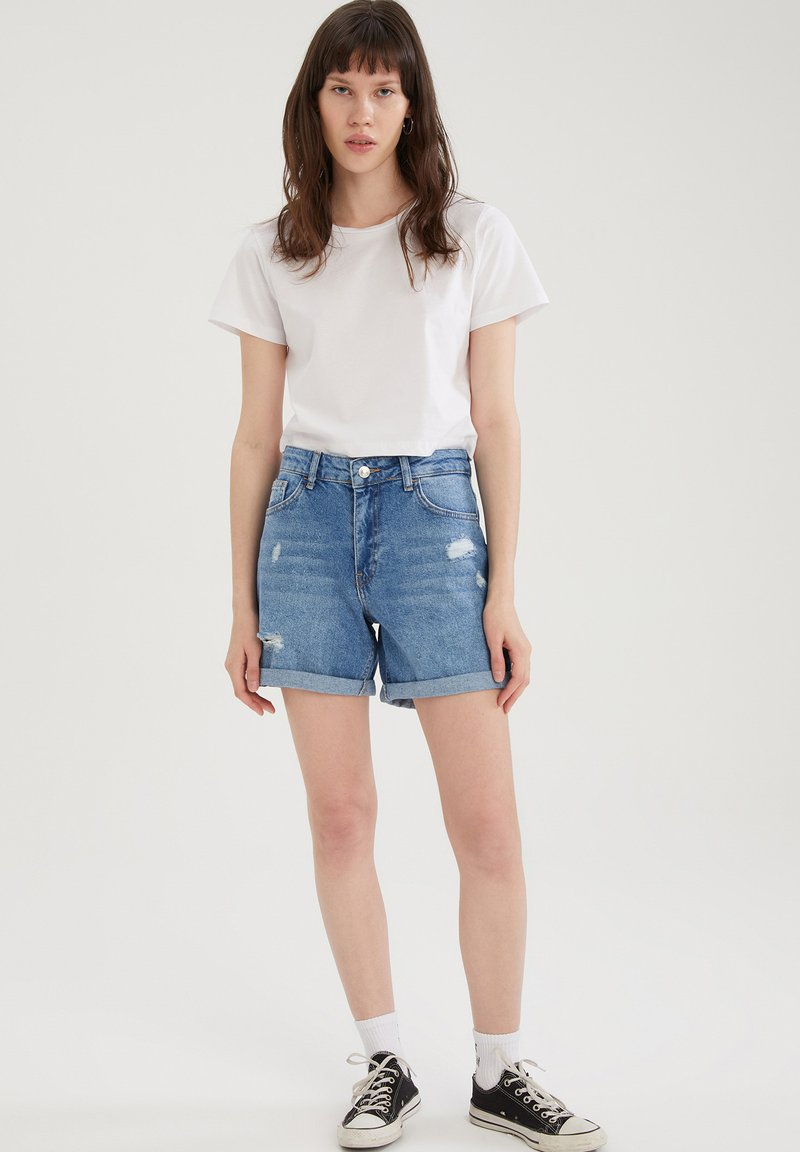 DeFacto - PACK OF 2 - Basic T-shirt - white