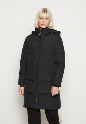 ELASTIC LOGO SORONA COAT - Winter coat - black