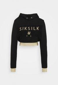 SIKSILK - CROPPED HOOD - Sweatshirt - black - 0