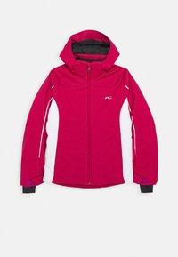 Kjus - GIRLS FORMULA JACKET - Ski jacket - mulberry/white - 0