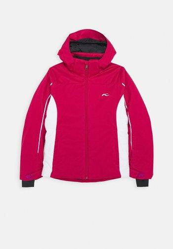 GIRLS FORMULA JACKET - Ski jacket - mulberry/white