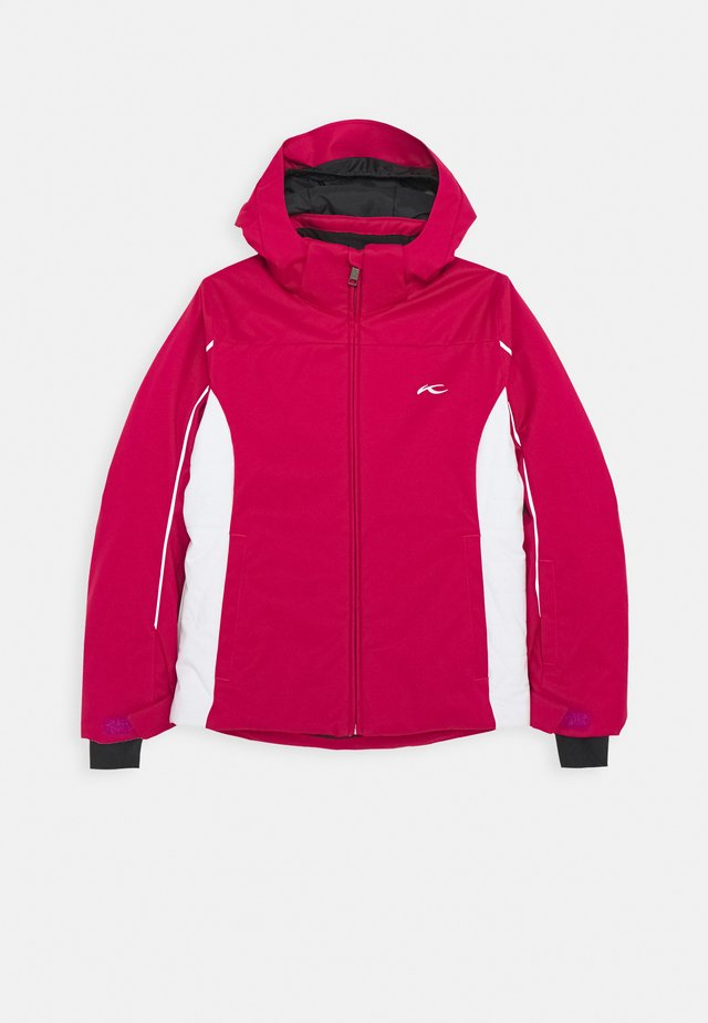 GIRLS FORMULA JACKET - Kurtka snowboardowa - mulberry/white