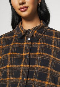 BDG Urban Outfitters - BRUSHED CHECKED SHACKET - Button-down blouse - orange - 5