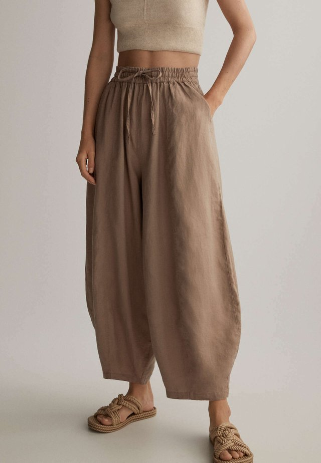 Kalhoty - brown