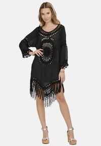 IZIA - IZIA TUNIKAKLEID - Day dress - schwarz - 0