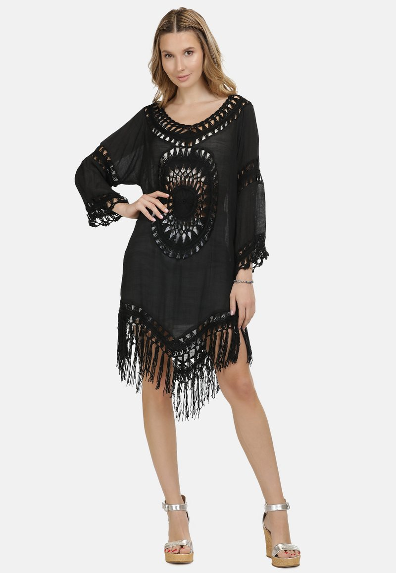IZIA - IZIA TUNIKAKLEID - Day dress - schwarz