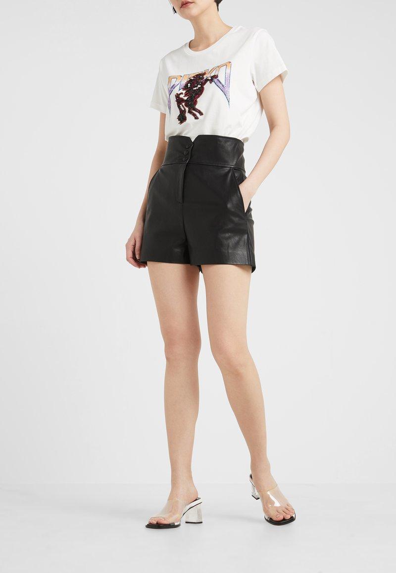 Pinko - PAREGGIARE SIM - Pantaloni di pelle - black
