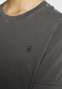 G-Star - REGULAR FIT TEE OVERDYED - T-shirts - raven - 4