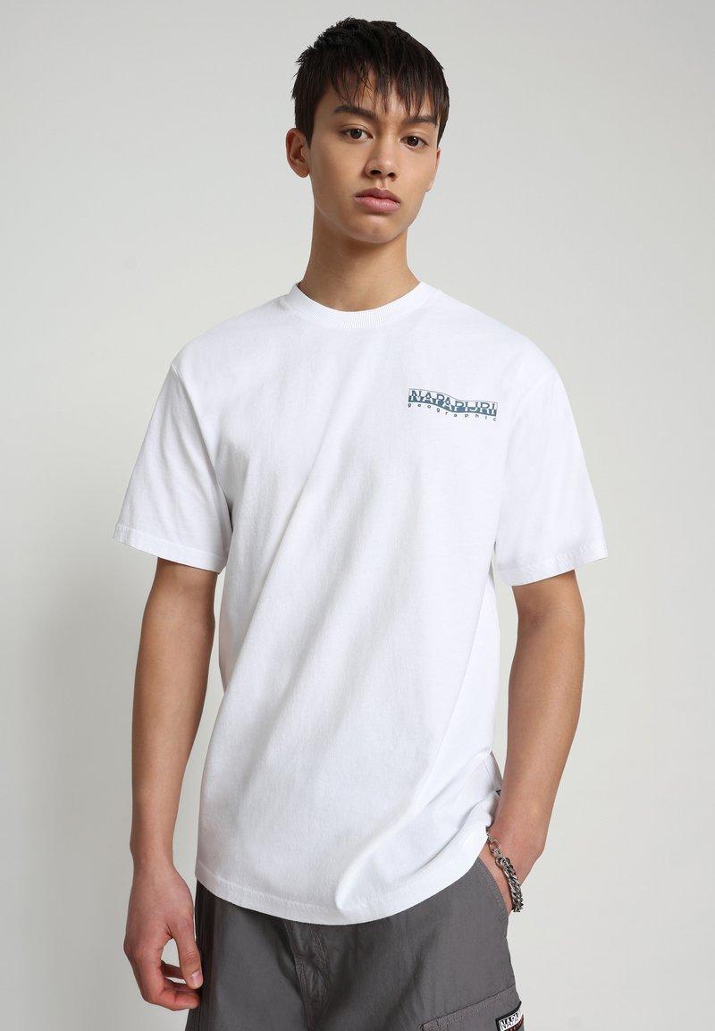 Napapijri - SOLE GRAPHIC - T-shirt print - bright white