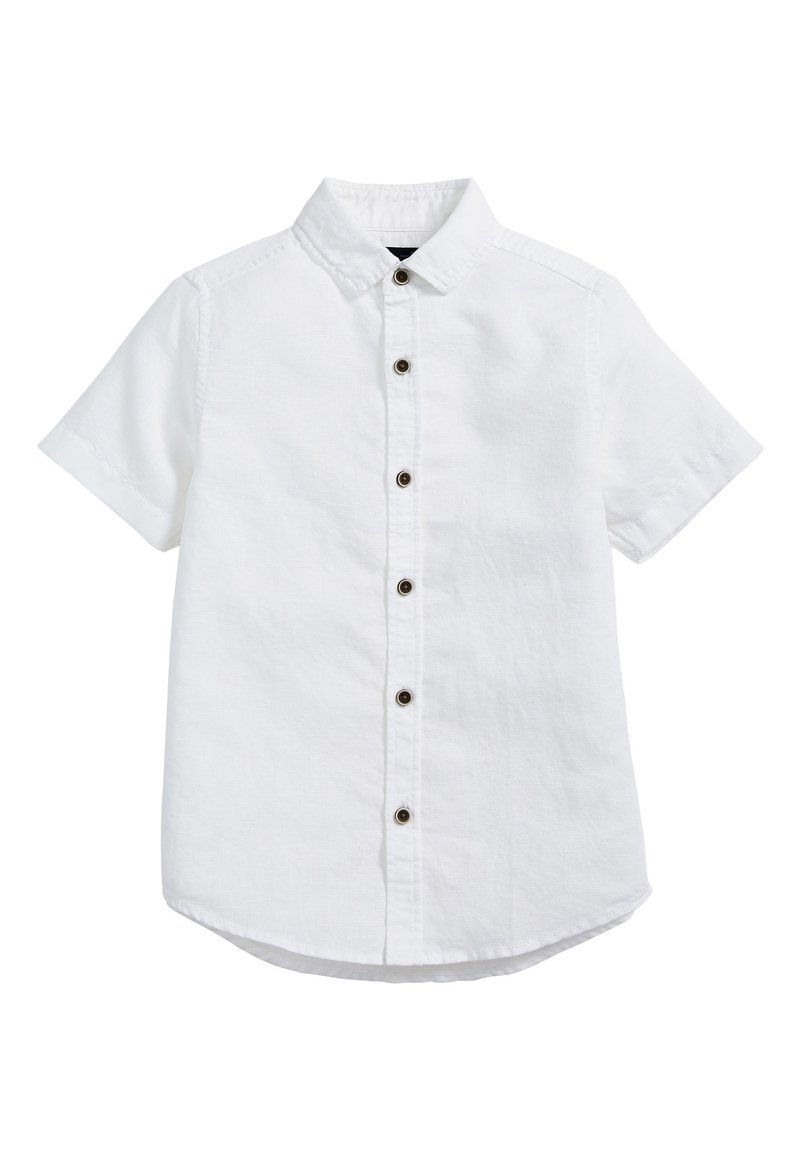 Next - WHITE SHORT SLEEVE LINEN MIX SHIRT (3-16YRS) - Košile - white