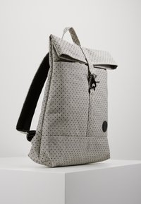 Enter - CITY FOLD TOP BACKPACK - Batoh - melange black/black polkadot - 3
