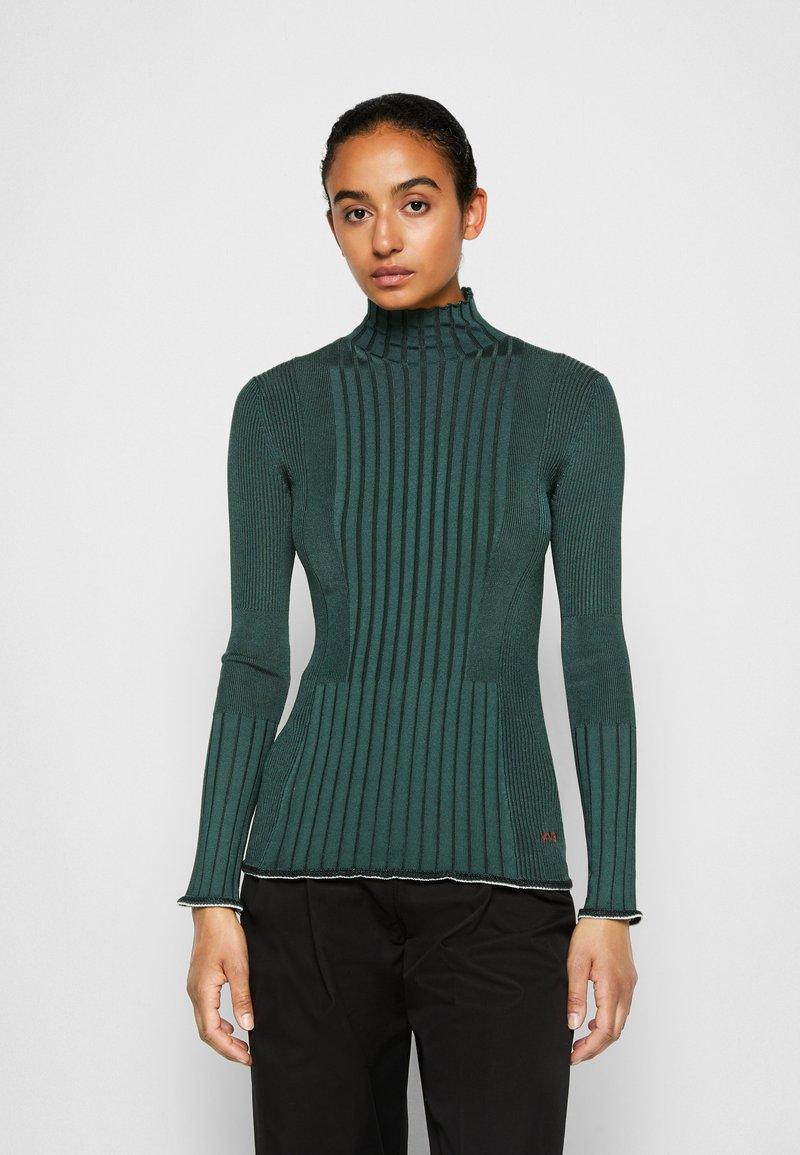 Victoria Victoria Beckham - TURTLENECK JUMPER - Sweter - emerald green