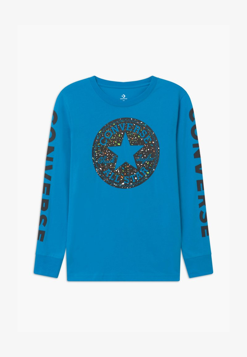 Converse - CHUCK PATCH GRAPHIC TEE UNISEX - Long sleeved top - sail blue