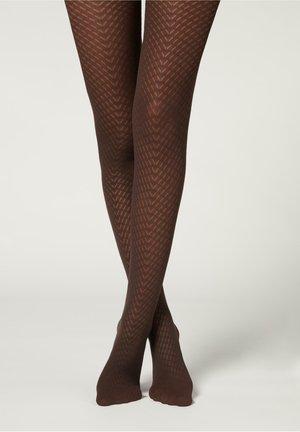 70 DENIER MIT - Leggings - Stockings - braun - 4689 - brown chevron