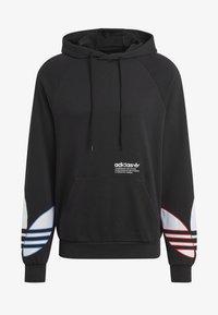 adidas Originals - ADICOLOR TRICOLOR TREFOIL HOODIE UNISEX - Luvtröja - black - 6