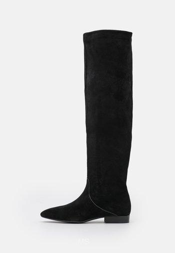 AMELIA - Kozačky nad kolena - noir