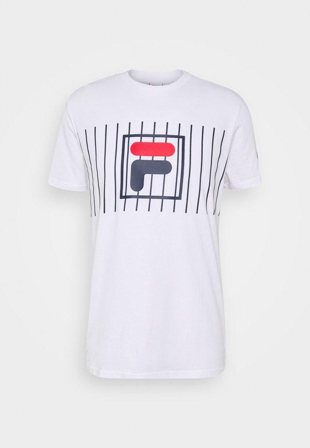 SAUTS TEE - T-shirt imprimé - bright white