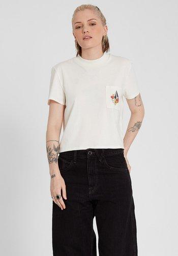 POCKET DIAL TEE - Print T-shirt - star_white