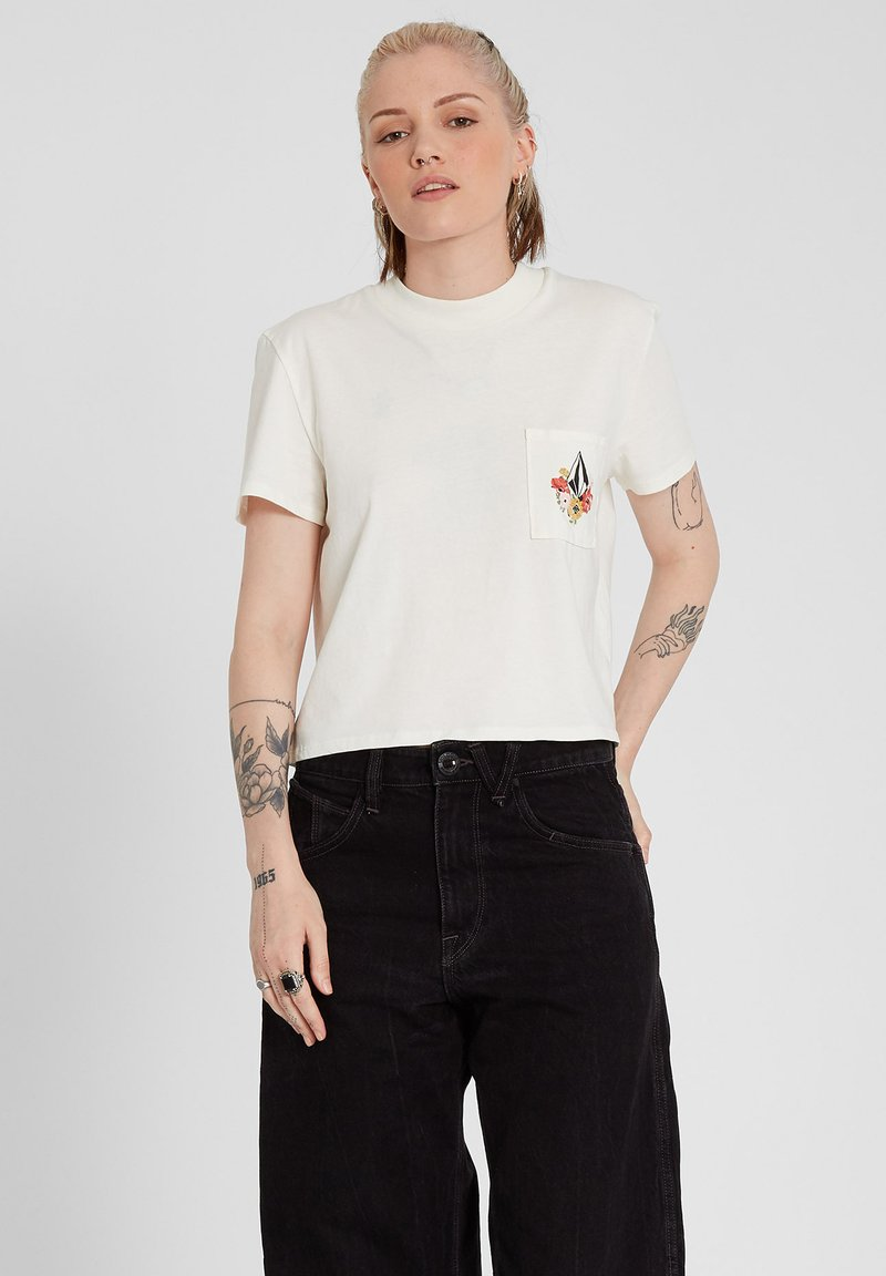 Volcom - POCKET DIAL TEE - Print T-shirt - star_white