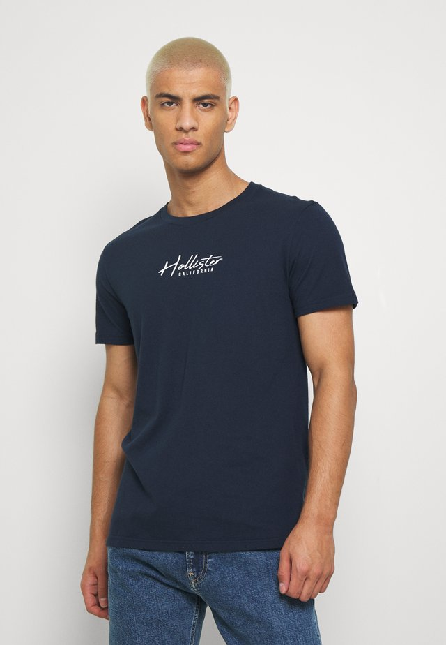 OMBRE  - Print T-shirt - navy