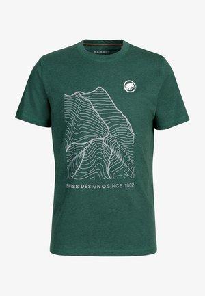 Print T-shirt - woods melange