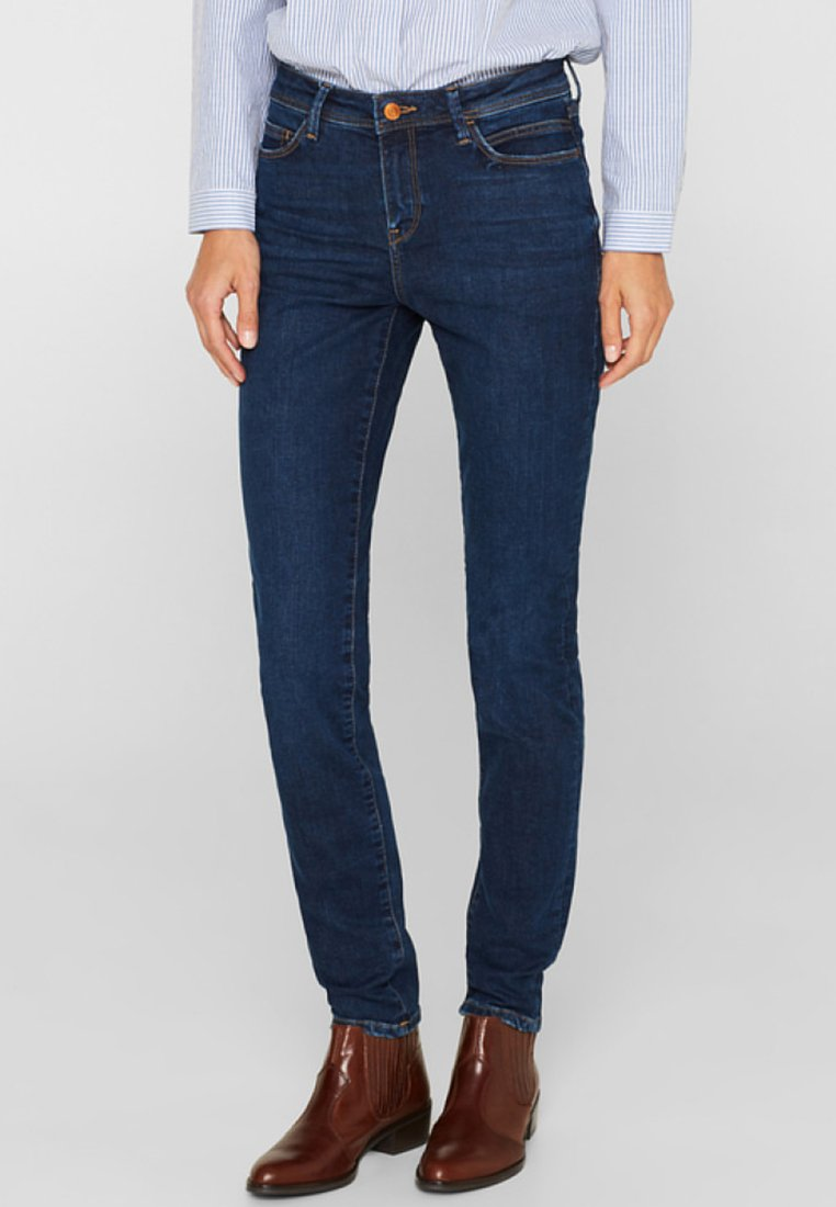 Esprit - LIEBLINGS GESCHNITTENE  - Slim fit jeans - blue dark washed
