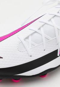 Nike Performance - PHANTOM GT CLUB DF FG/MG - Moulded stud football boots - white/pink blast/black - 5
