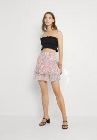 ONLY - ONLALLY SMOCK LAYERED SKIRT - Mini skirt - sugar coral/desert - 1