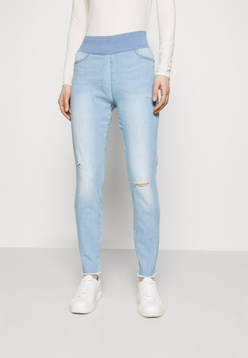 Freequent - FQSHANTAL ANKLE BROKEN - Jeans slim fit - bleached blue denim