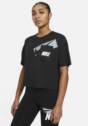 DRY CROP - Print T-shirt - black/white