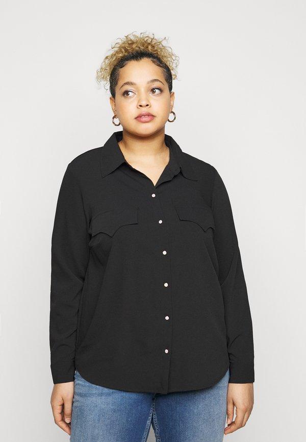 Vero Moda Curve VMLOLENA CURVE - Koszula - black/czarny IWUQ